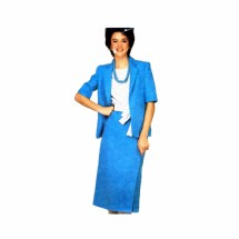 1980s Jacket Top Sash Skirt Suit Simplicity 5889 Vintage Sewing Pattern Size 8 - 10 - 12
