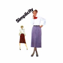 1980s Slim Skirt in Two Lengths Simplicity 6026 Vintage Sewing Pattern Size 6 - 8 - 10
