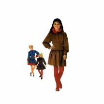 Girls Mini Dress and Sash Simplicity 6130 Vintage Sewing Pattern Size 7