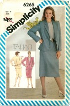 Simplicity 6265 TAHARI Slim Skirt Blouse Jacket Size 14