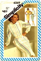 Simplicity 6269 Henry Grethel Asymmetrical Dolman Sleeve Dress Size 10 - Bust 32 1/2