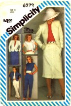 Simplicity 6272 Pants Slim Skirt Jacket Top Size 12 - Bust 34