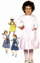 Girls Jumper Back Button Blouse Simplicity 6307 Vintage Sewing Pattern Size 4 - 5 - 6
