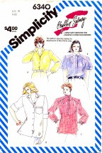Simplicity 6340 Loose-Fitting Shirts Size 18 - Bust 40