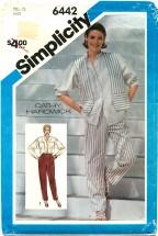 Simplicity 6442 CATHY HARDWICK Pants Shirt Vest Size 12