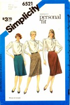 Simplicity 6521 Proportioned Slim Skirts Size 6 - Waist 23