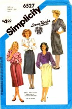 Simplicity 6527 Gathered Tucked Skirts Size 6 - Waist 23