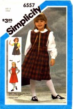 Simplicity 6557 Girls Jumper & Blouse Size 5