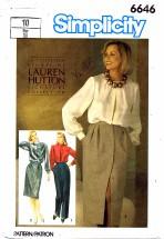 Simplicity 6646 Lauren Hutton Skirts & Pants Size 10 - Waist 25