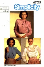 Simplicity 6705 Sewing Pattern Asymmetrical Blouse Size 6 - 8 - 10