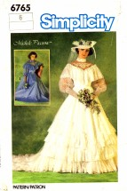 Simplicity 6765 Sewing Pattern Michele Piccione Brides Bridesmaids Wedding Dress Gown Size 6