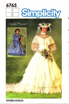 Simplicity 6765 Sewing Pattern Michele Piccione Brides Bridesmaids Wedding Dress Gown Size 8