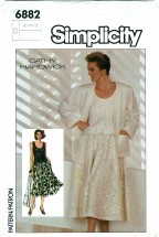 Simplicity 6882 CATHY HARDWICK Skirt Camisole Jacket Size 12 - 16