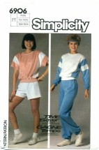 Simplicity 6906 Top Pants Shorts Size 6 - 8 - Bust 30 1/2 - 31 1/2