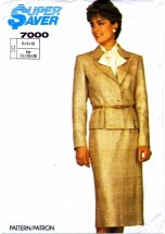 Simplicity 7000 Skirt Jacket Suit Bust 30 1/2 - 32 1/2