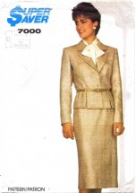 Simplicity 7000 Skirt Jacket Suit Size 12 - 16 - Bust 34 - 38