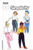 Simplicity 7012 Pants & Jodphurs Size 5