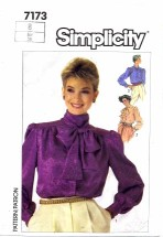 Simplicity 7173 Sewing Pattern Set of Blouses Size 8