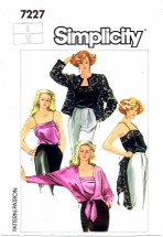 Simplicity 7227 Vintage Sewing Pattern Misses Camisoles Jacket Size 8 Bust 31 1/2