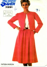 Simplicity 7291 Dress and Jacket Size 10 - 14 - Bust 32 1/2 - 36
