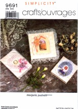 Simplicity 9691 Crafts Sewing Pattern Book Covers Marjorie Puckett