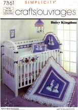 Simplicity 7361 Sewing Pattern Daisy Kingdom Babies Room Accessories