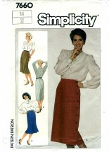 Simplicity 7660 Set of Slim Skirts Size 14 - Waist 28
