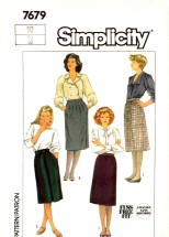 Simplicity 7679 Sewing Pattern Fuss Free Skirts Suit Size 10