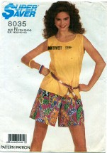 Simplicity 8035 Easy Top & Shorts Size 10 - 14