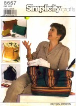 Simplicity 8657 Tote Clutch Cosmetic Bags