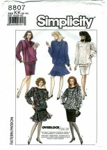 Simplicity 8807 Pullover Top & Skirts Size 8 - 12 - Bust 31 1/2 - 34