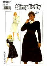 Simplicity 8907 Flared Skirt Dress Size 12 - Bust 34