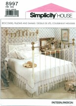 Simplicity 8997 Bedcovers Pillows Shams Comforter Bed Throw Bedding