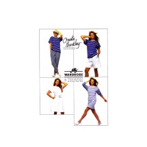 Christie Brinkley Dress Top Pants Shorts Skirt Simplicity 9112 Vintage Sewing Pattern Size 14 - 16 Bust 36 - 38