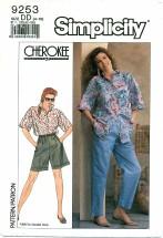 Simplicity 9253 Shirt Top Pants Size 4 - 10 - Bust 29 1/2 - 32 1/2