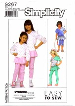 Simplicity 9267 Pants with Attached Skirt & Top Size 7 - 10