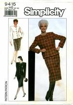 Simplicity 9415 Skirt & Jacket Size 6 - 14 - Bust 30 1/2 - 36