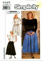 Simplicity 9446 Full Skirt Dress Size 8 - 14 - Bust 31 1/2 - 36