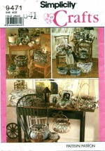 Simplicity 9471 Crafts Covered Boxes & Baskets