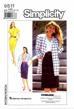Simplicity 9511 Dress and Jacket Size 6 - 14 - Bust 30 1/2 - 36