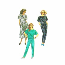 1980s Misses Skirt Pants Pullover Top Simplicity 9569 Vintage Sewing Pattern Size 6 thru 24
