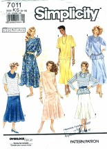 Simplicity 7011 Misses Two-Piece Dress Size 8 - 16