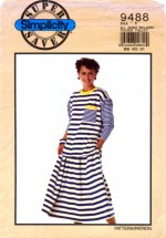Simplicity 9488 Womens Top & Skirt Vintage Sewing Pattern Size 6 - 24