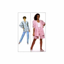 Misses Pants Shorts Unlined Jacket Simplicity 9618 Vintage Sewing Pattern Size 6 thru 24