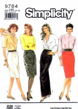 Simplicity 9784 Sewing Pattern Womens Skirts Size 6 - 8 - 10 - 12 - 14