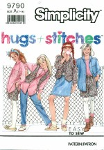 Simplicity 9790 HUGS & STITCHES Pants Shorts Shirt Vest Size 7 - 14