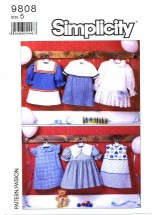 Simplicity 9808 Six Styles of Sailor Dresses Size 5