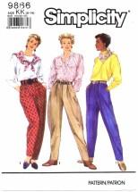 Simplicity 9866 Sewing Pattern Misses Jodphurs Pants Size 8 - 14 - Waist 24 - 28