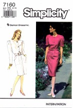 Simplicity 7160 Pullover Dress and Belt Size 6 - 14 - Bust 30 1/2 - 36