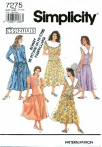 Simplicity 7275 Misses Dress Size 4 - 12